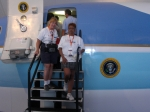 Me and a friend in front a replica of Air Force One
